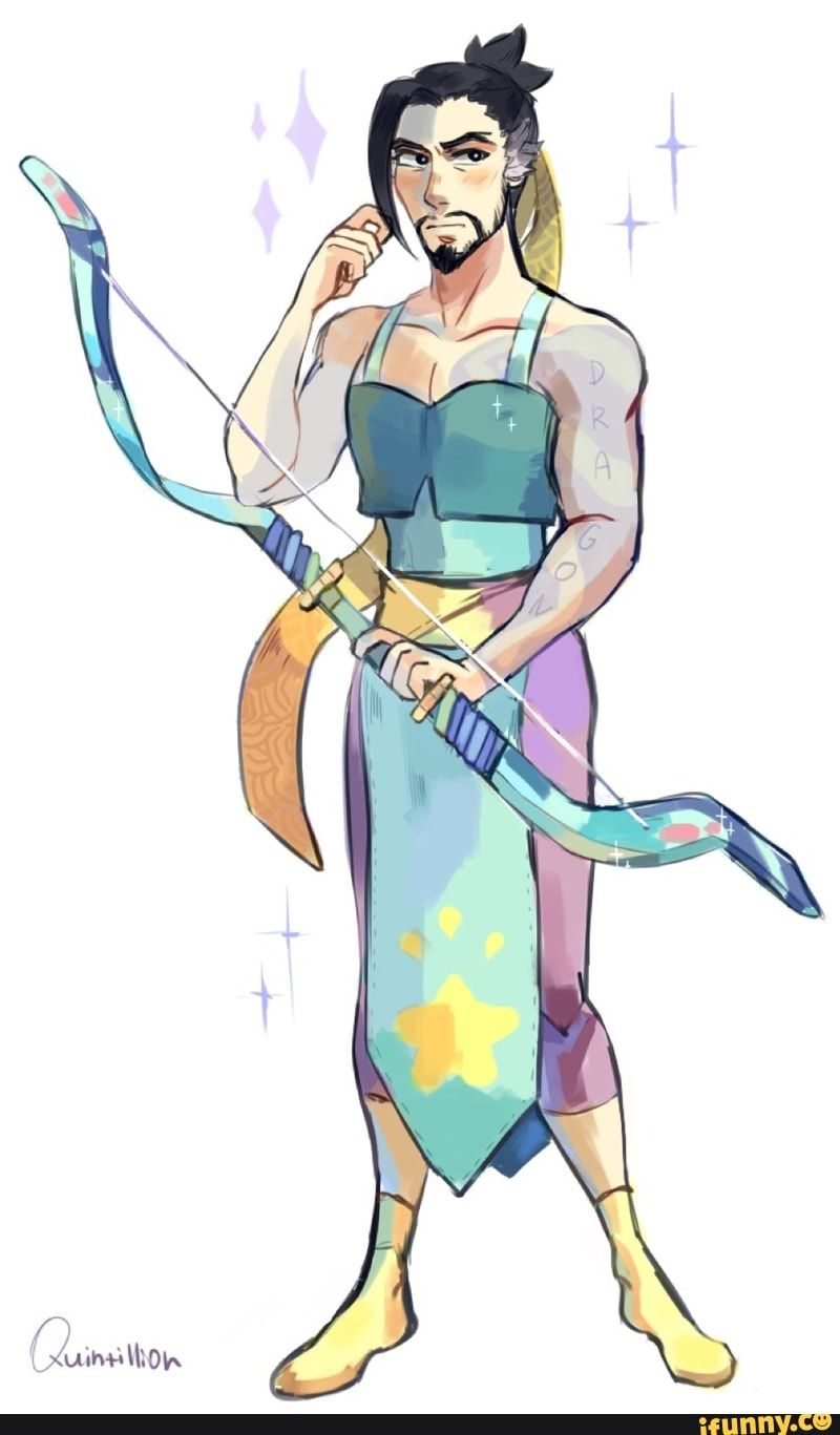 Hanzo wearing opals outfit