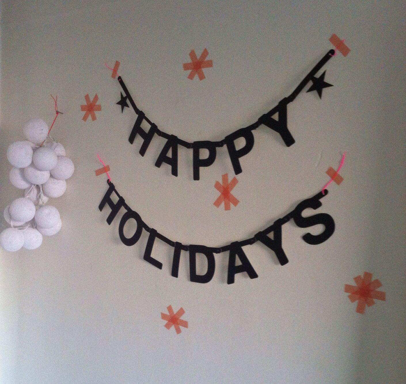 Holiday greetings!