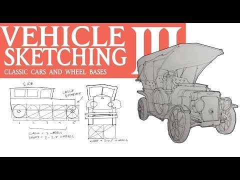 VEHICLE SKETCHING 3: Classic Cars, Wheel Bases, and Blockouts – YouTube
