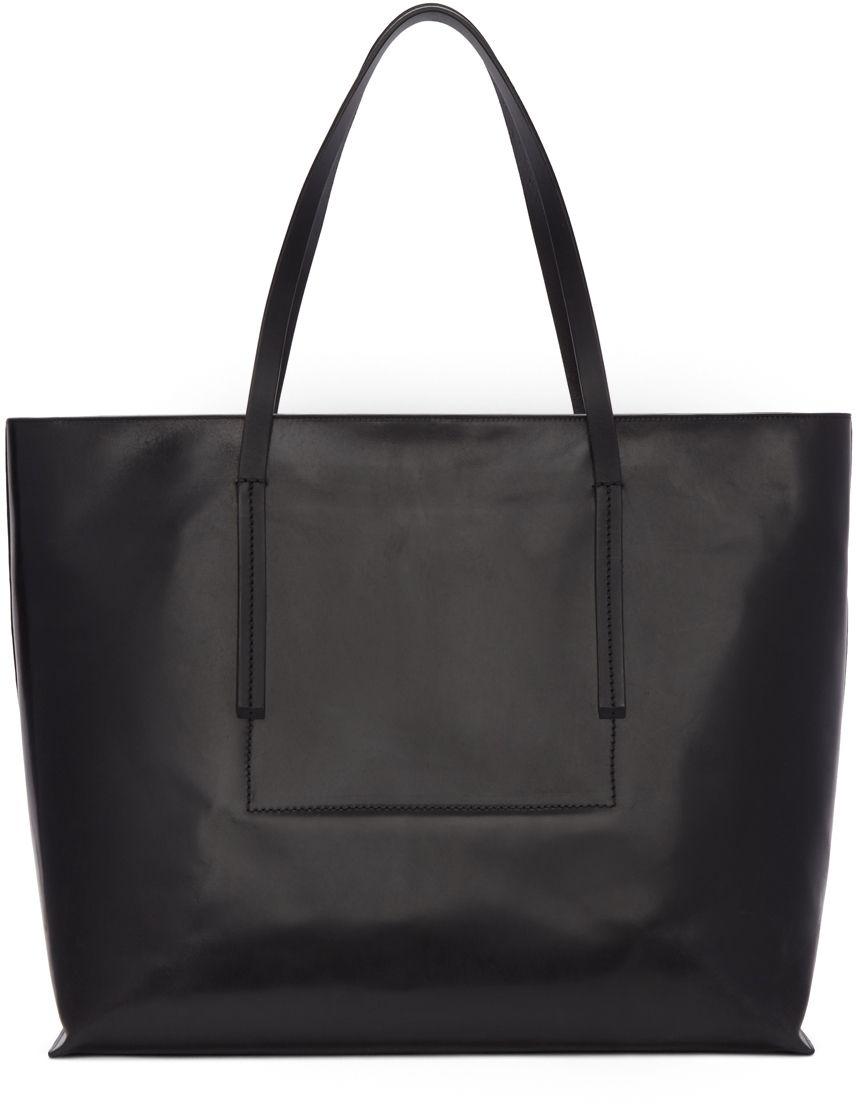 d8c9c48edeb Rick Owens: Black Big Shopper Tote Bag | SSENSE | Rugs and bows ...