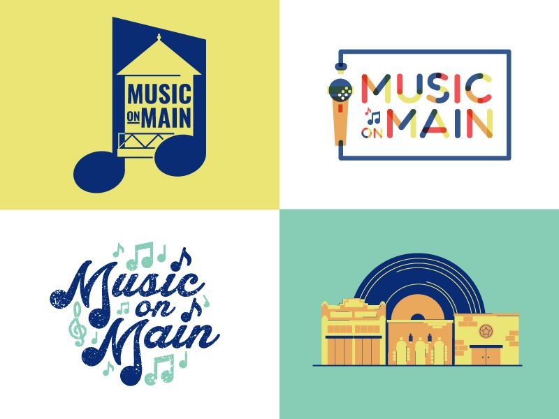 One of our clients approached us to brand their weekly summer concert series, and here are some of the doodles/logos I came up for it.