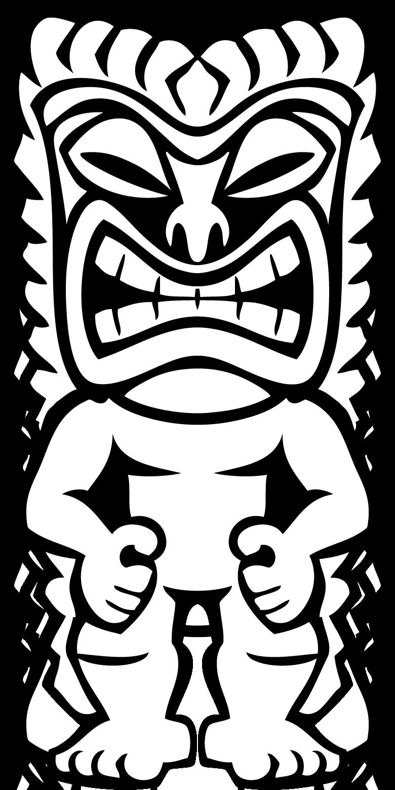 hawaiian tiki clip art clipart panda free clipart images art rh pinterest co uk tiki mask clipart tiki clipart free