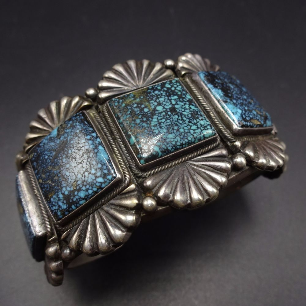 Signed Vintage NAVAJO Sterling Silver & Gold Canyon