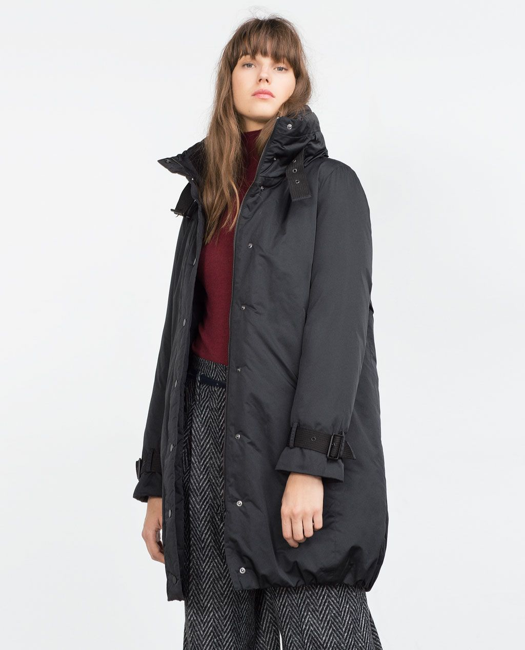 LONG DOWN JACKET-Quilted Coats-Outerwear-WOMAN | ZARA United ... : quilted long down coat - Adamdwight.com
