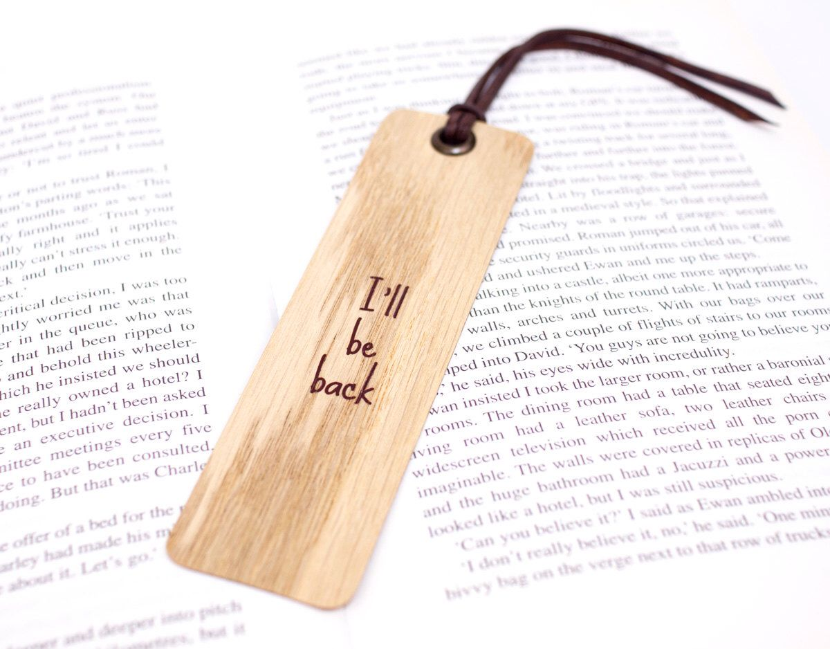Wood Bookmarks, Ribbon Bookmarks, Leather Bookmarks, Bookmarks For Books,  Wooden Bookmarks,