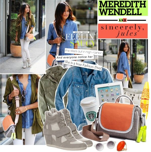 """""""Spring's It Bag With Sincerely Jules x Meredith Wendell"""" by klaudiahalasi ❤ liked on Polyvore"""