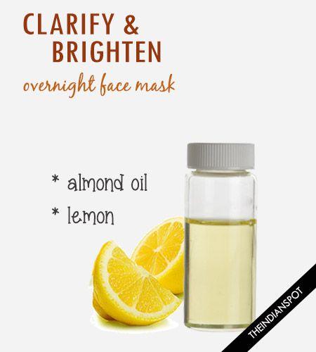Clarify and brighten - Overnight Lemon Almond Mask