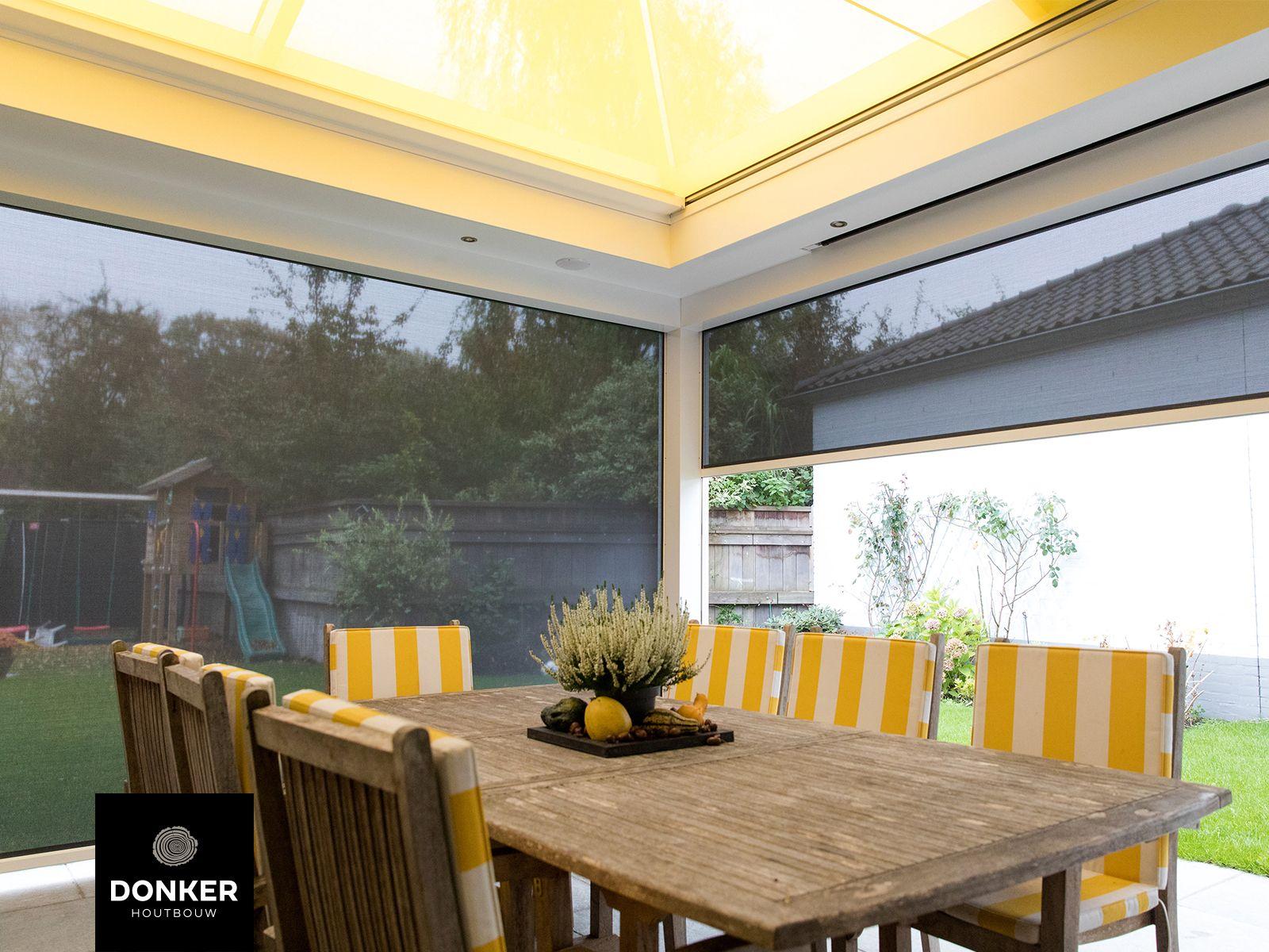 Donker Houtbouw Klassieke veranda Wit hoogglans Ge¯ntegreerde
