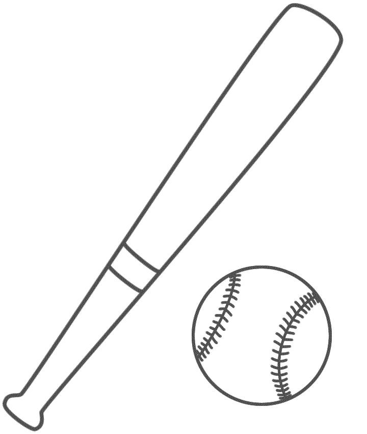 Coloring Page Pelota De Beisbol Deportes Dibujos Y
