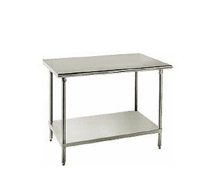 Advance Tabco Ag 363 36 X 36 16 Gauge Stainless Steel Work Table With Galvanized Undershelf Stainless Steel Work Table Table Restaurant Equipment