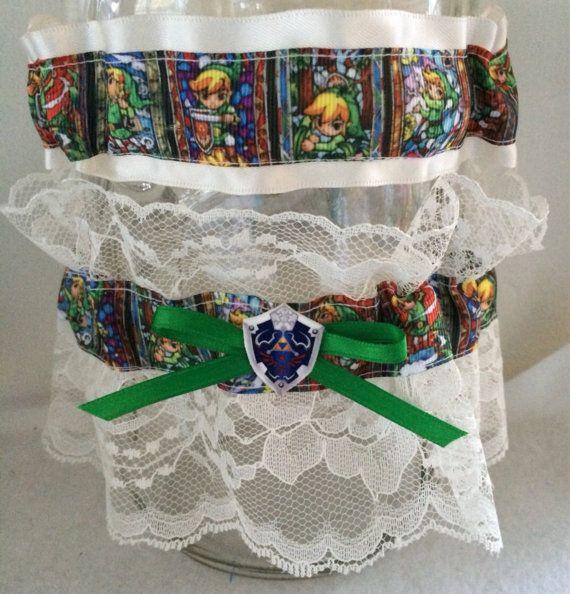 Legend Of Zelda Wedding Garter Geek Nerd Link