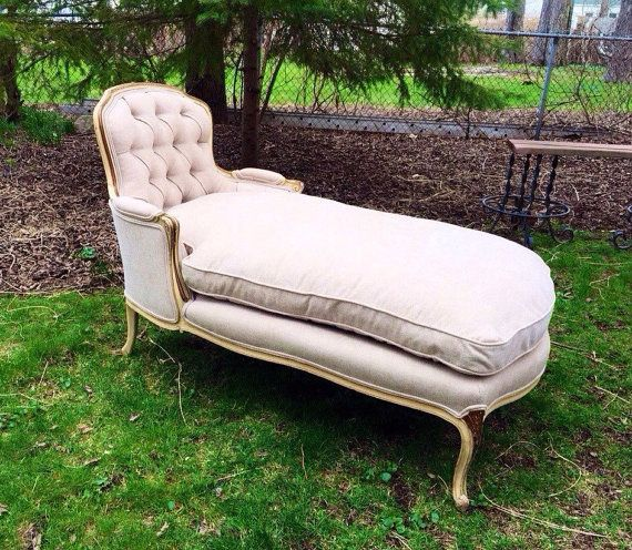 Antique French Provincial Chaise Lounge Chaise Lounge Chaise