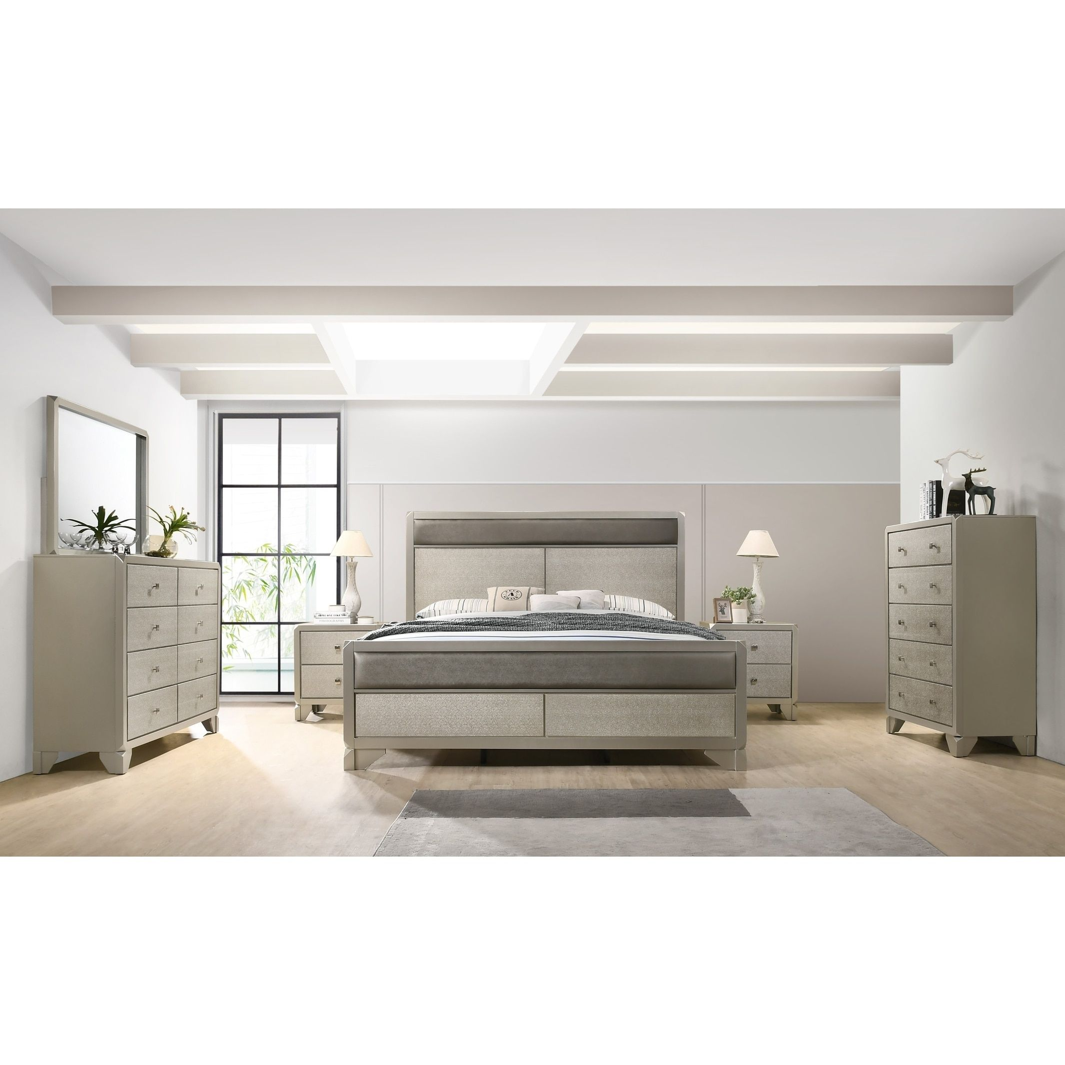 Best Silver Orchid Olivia Contemporary Champagne Beige Silver 400 x 300