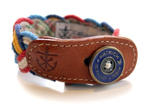 Kiel James Patrick Nautical Fabric Bracelet (Braided)