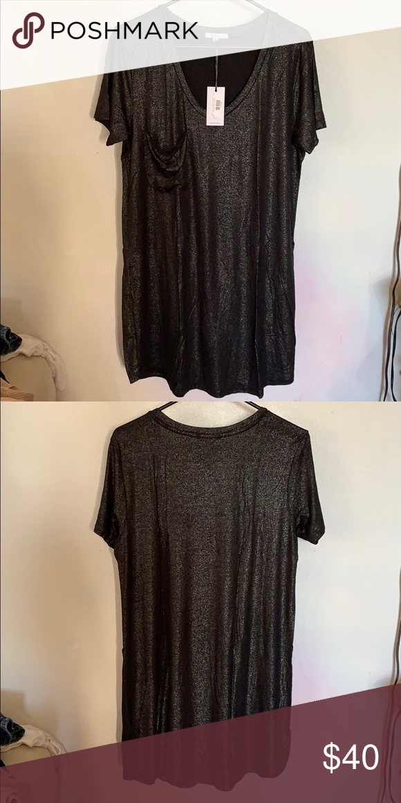 6e30e2b0f077 Z Supply Shimmer Pocket Tee Dress This is a dress, size Large but it fits  more like a XL on me. Dresses
