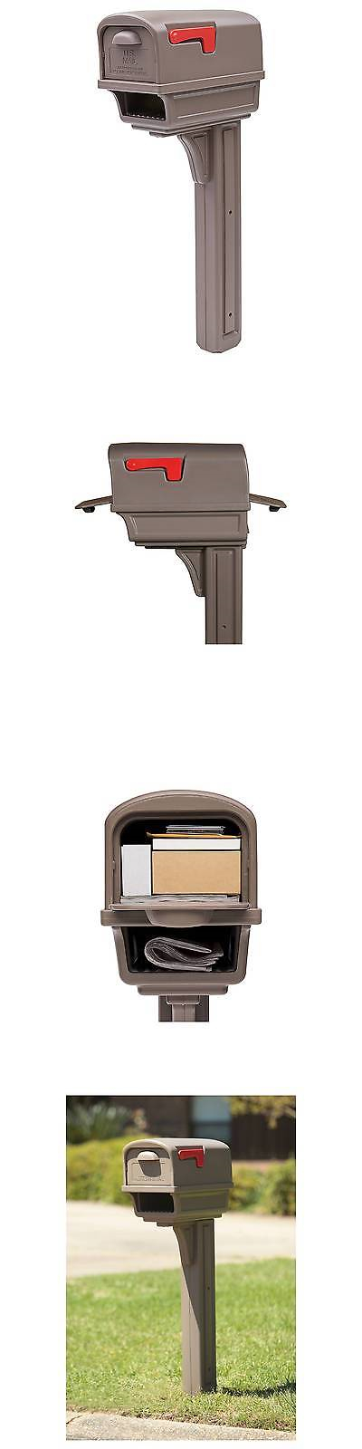 Mailboxes and Slots 20599: Gibraltar Gentry All-In-One Plastic Mailbox And Post Combo - Mocha -> BUY IT NOW ONLY: $74.99 on eBay!