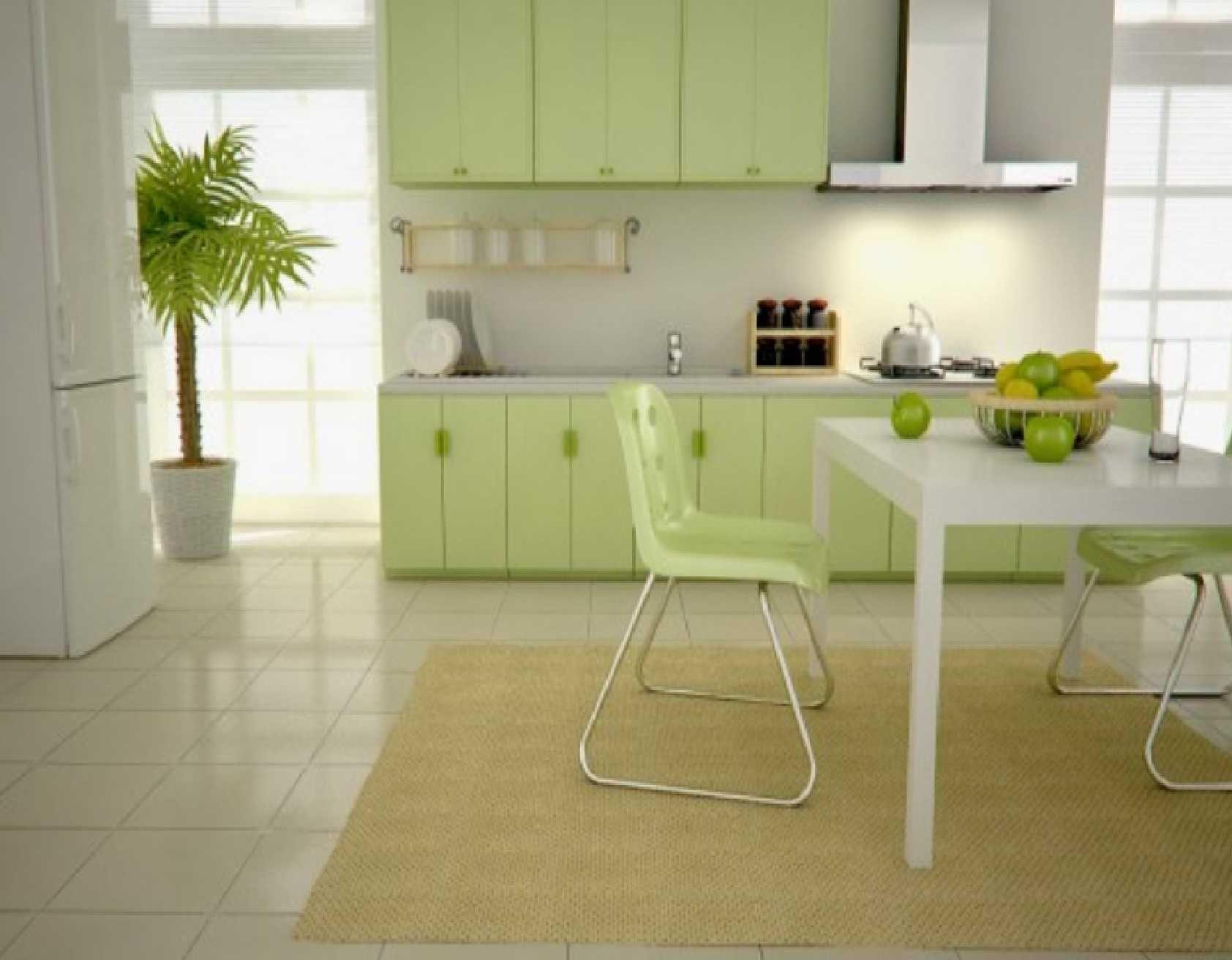 Stunning Kitchen Windows Design Ideas In Awesome Kitchen Design: Fresh  White Green Kitchen Furniture And
