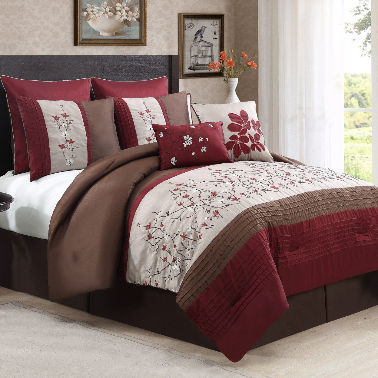 Sakura 8 Piece Comforter Set