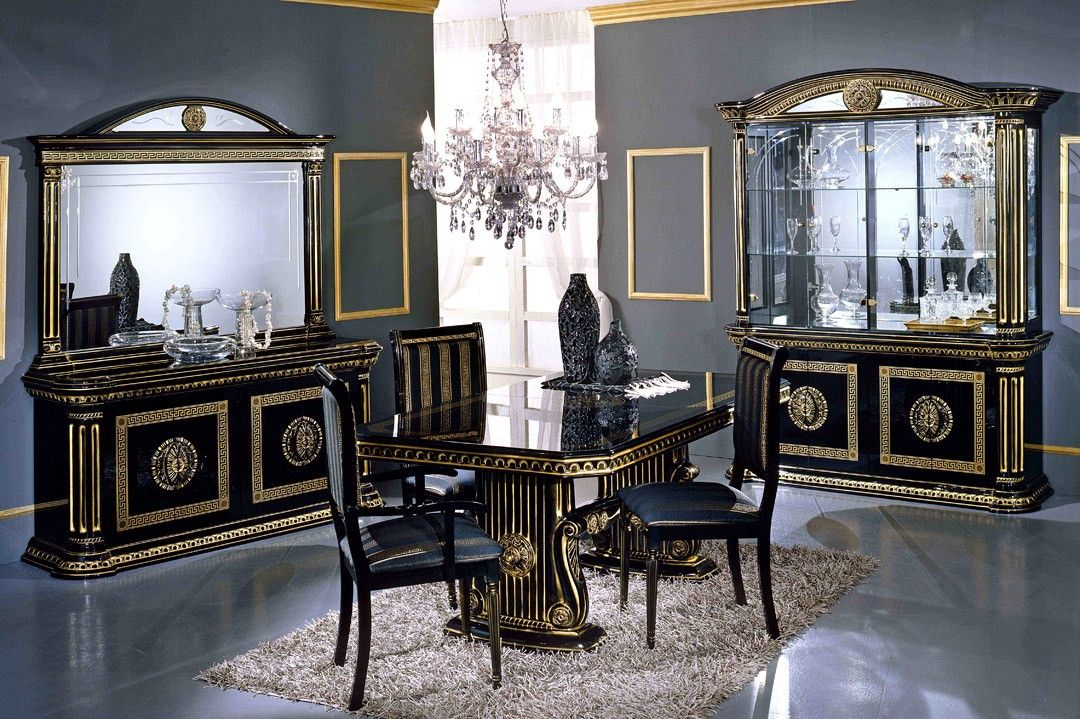 Black And Gold Dining Home Rosella Black And Gold Italian