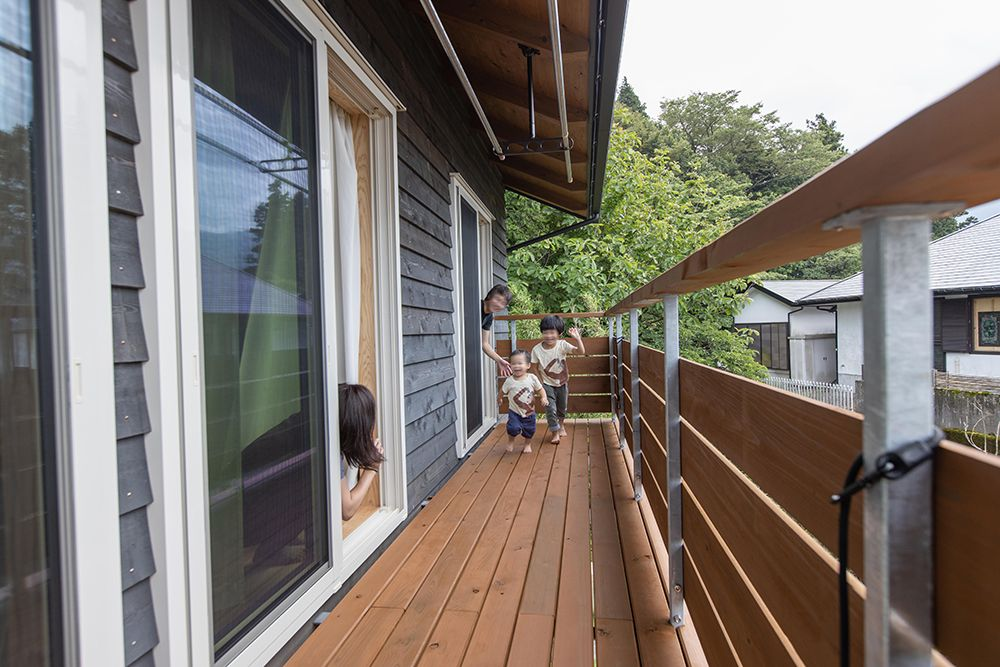 広々としたベランダ 家 マイホーム マイホーム計画 注文住宅