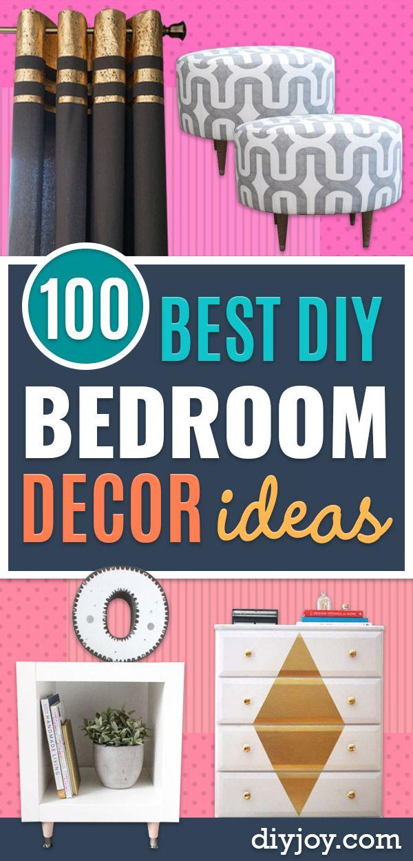 Diy Bedroom Decor Ideas Easy Room Decor Projects For Home Bedroom Makeover Diy Easy Room Decor Diy Bedroom Decor