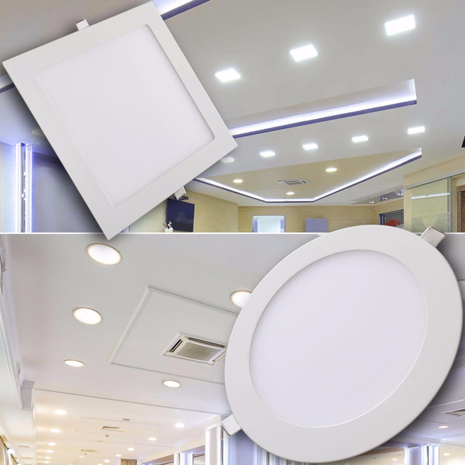 Led Panel Einbaustrahler Einbauspot 4w 6w 12w 18w Deckenlampe Lampe Spot Ebay Iluminacion Con Led Lamparas Para Comedor Lampara Led
