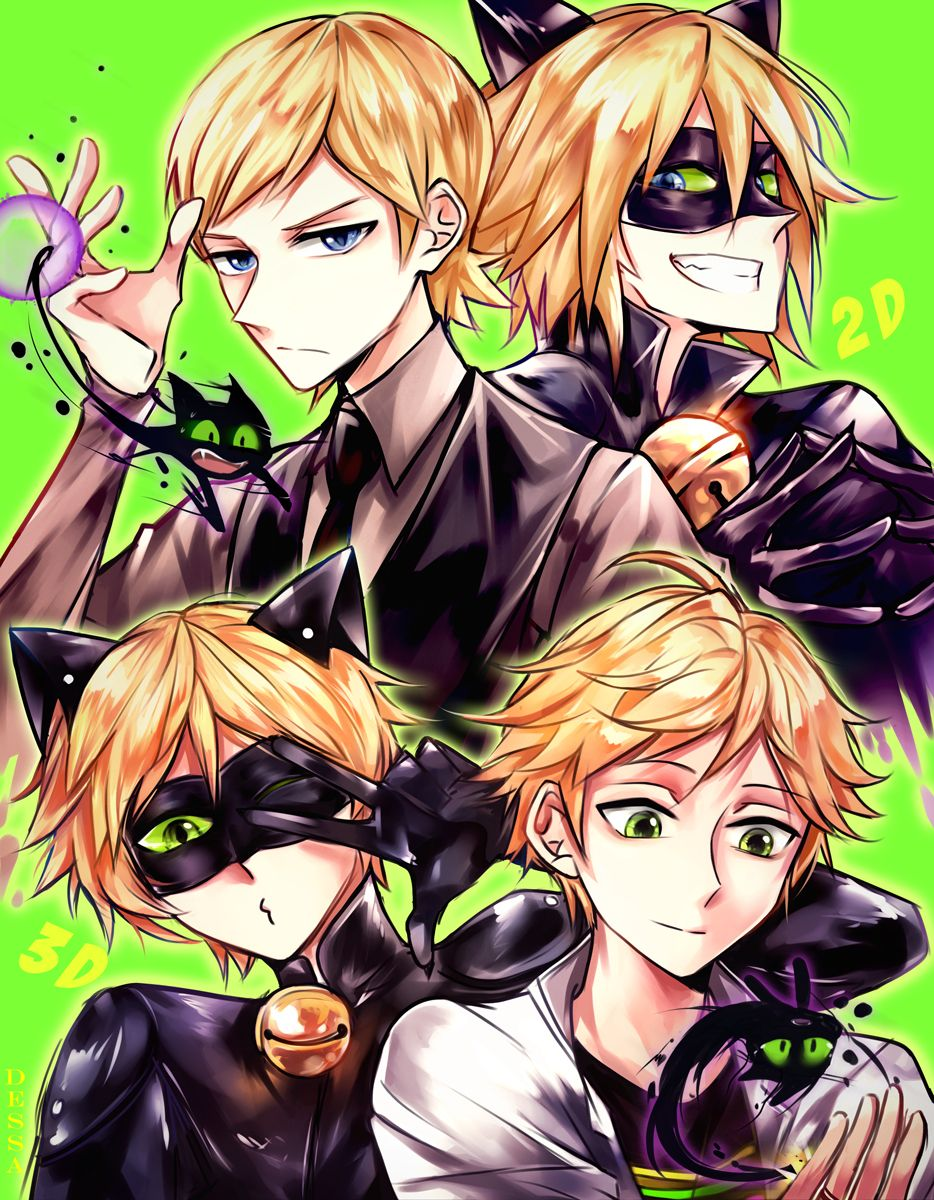 Miraculous ladybug Adrien and Felix by Dessanya