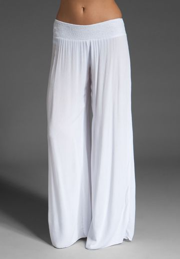 c5c027ed5a white flowing pant... Caribbean comfort. Enza Costa linen wide leg pant I  wand these for my Sandals trip :)
