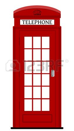 Two Typical London Bright Red Phone Cabins Infront Big Door Red Phone Booth Phone Box London Red Phone Booth