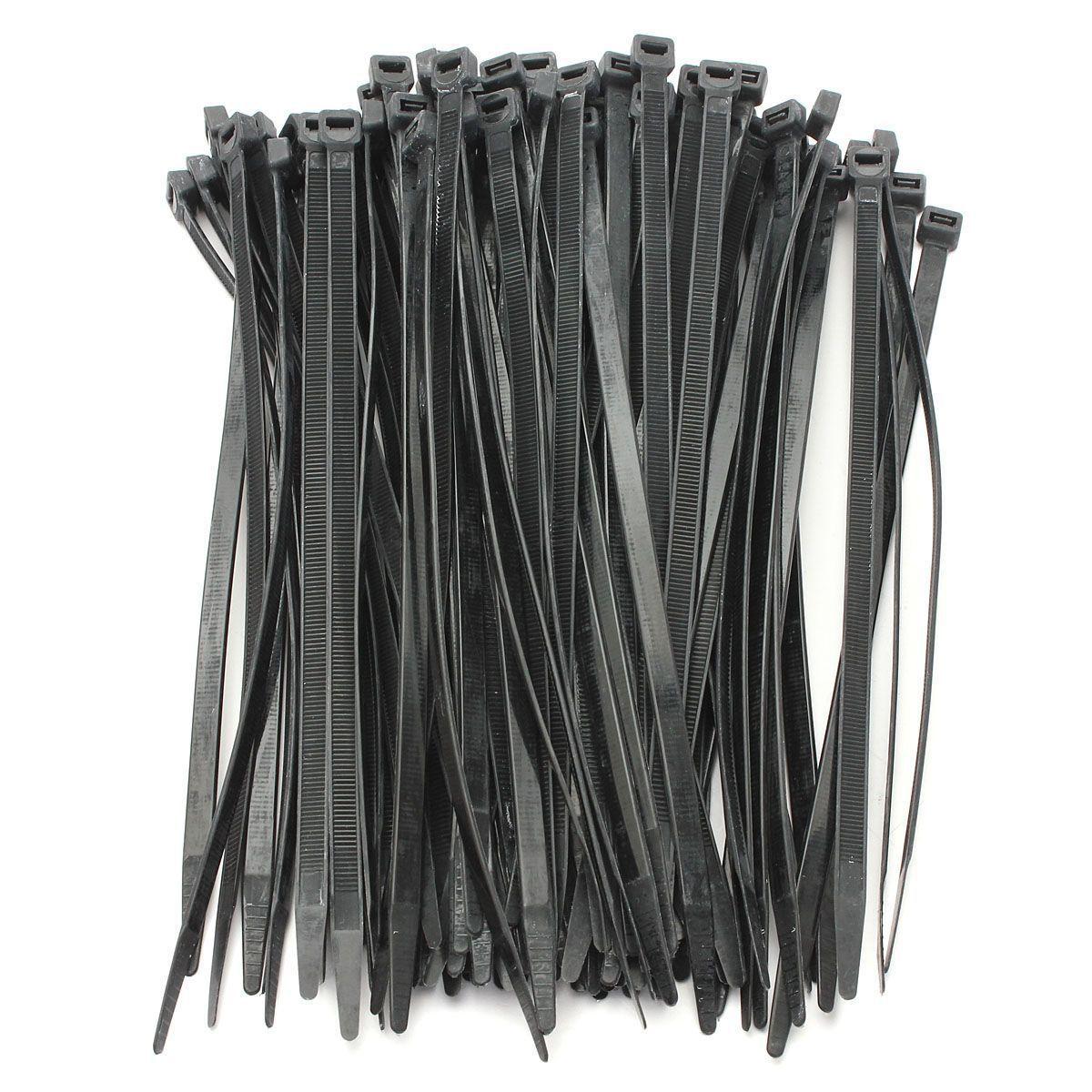 2ecb3dcea779 Ksol 100PCS Strong Cable Ties / Tie Wraps Zip Ties Color:Black  Size:5*300mm/5*200/5*370/7.2*250/4.8*450/4.8*350/4.8*300/4.8*250