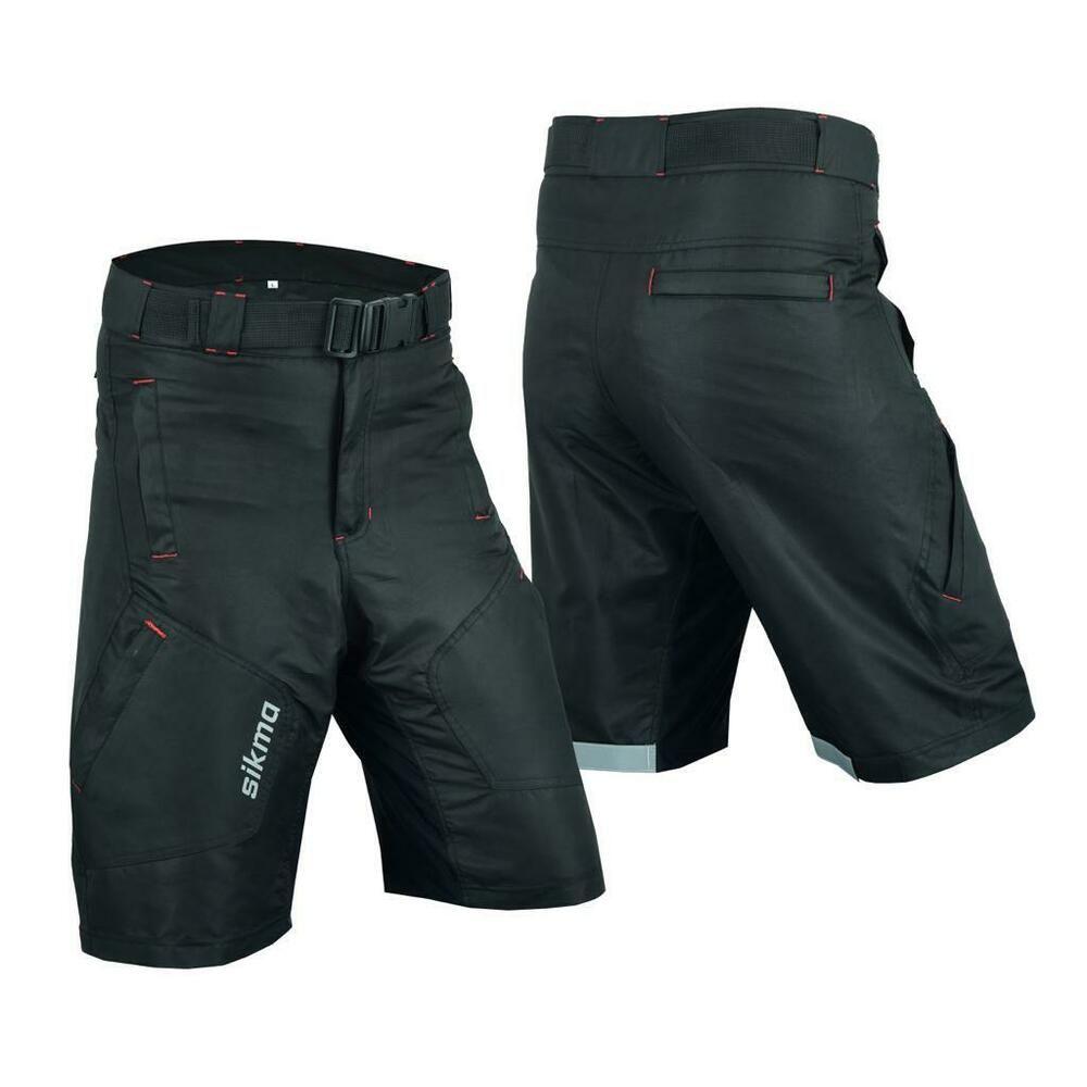 Black//Grey MTB Cycling Shorts CoolMax Padded Bicycle Off Road Liner Cycle Short