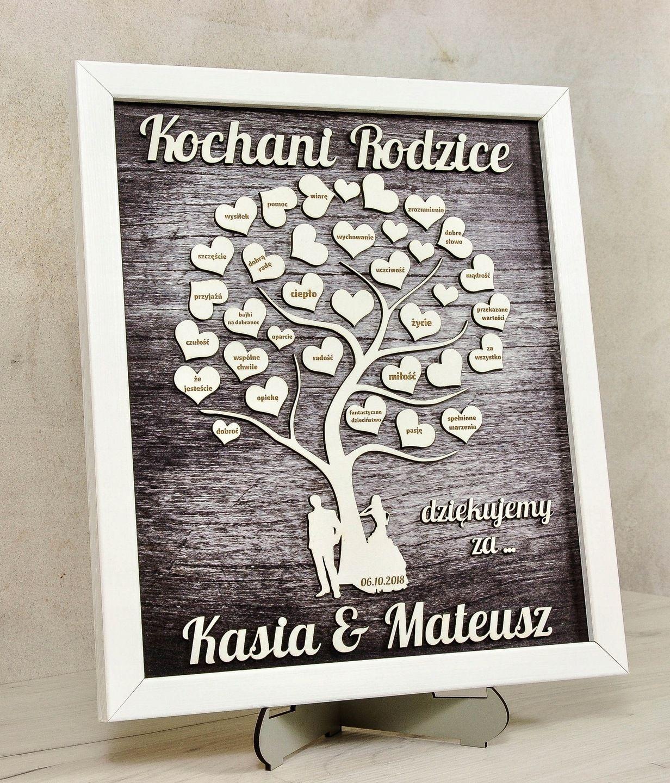 Obraz Podziekowania Dla Rodzicow Prezent 3d Grawer Wedding Inspiration Wedding Inspiration