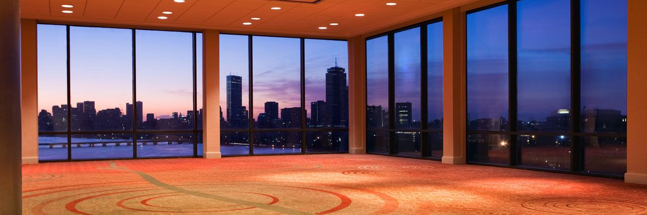 Overlooking The Boston Skyline And Scenic Charles River Hyatt Regency Cambridge Offers Several Wedding Venues In Ma