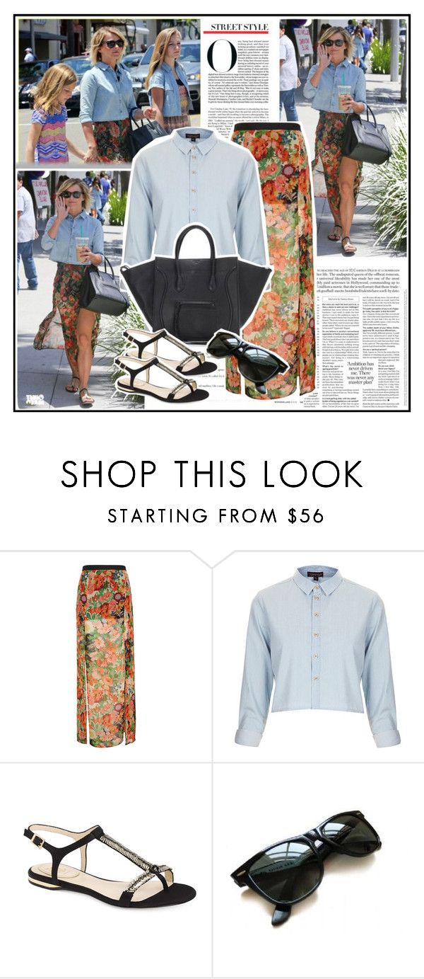 """""""328. Celebrity Style: Julianne Hough"""" by delosangeles ❤ liked on Polyvore featuring JULIANNE, Topshop, CÉLINE, Vince Camuto and Ray-Ban"""
