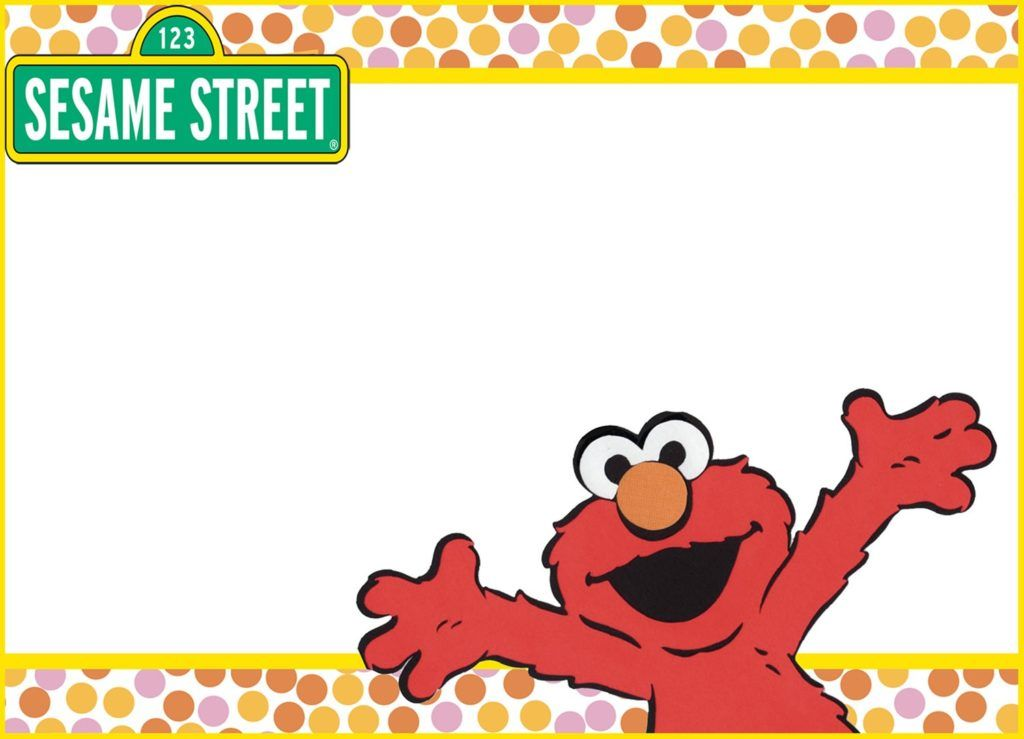 Printable Elmo Invitation Card Coolest Invitation Templates