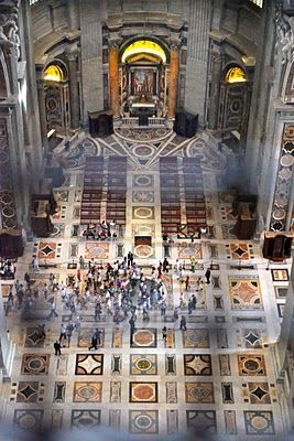 St. Peter's Basilica, view from above