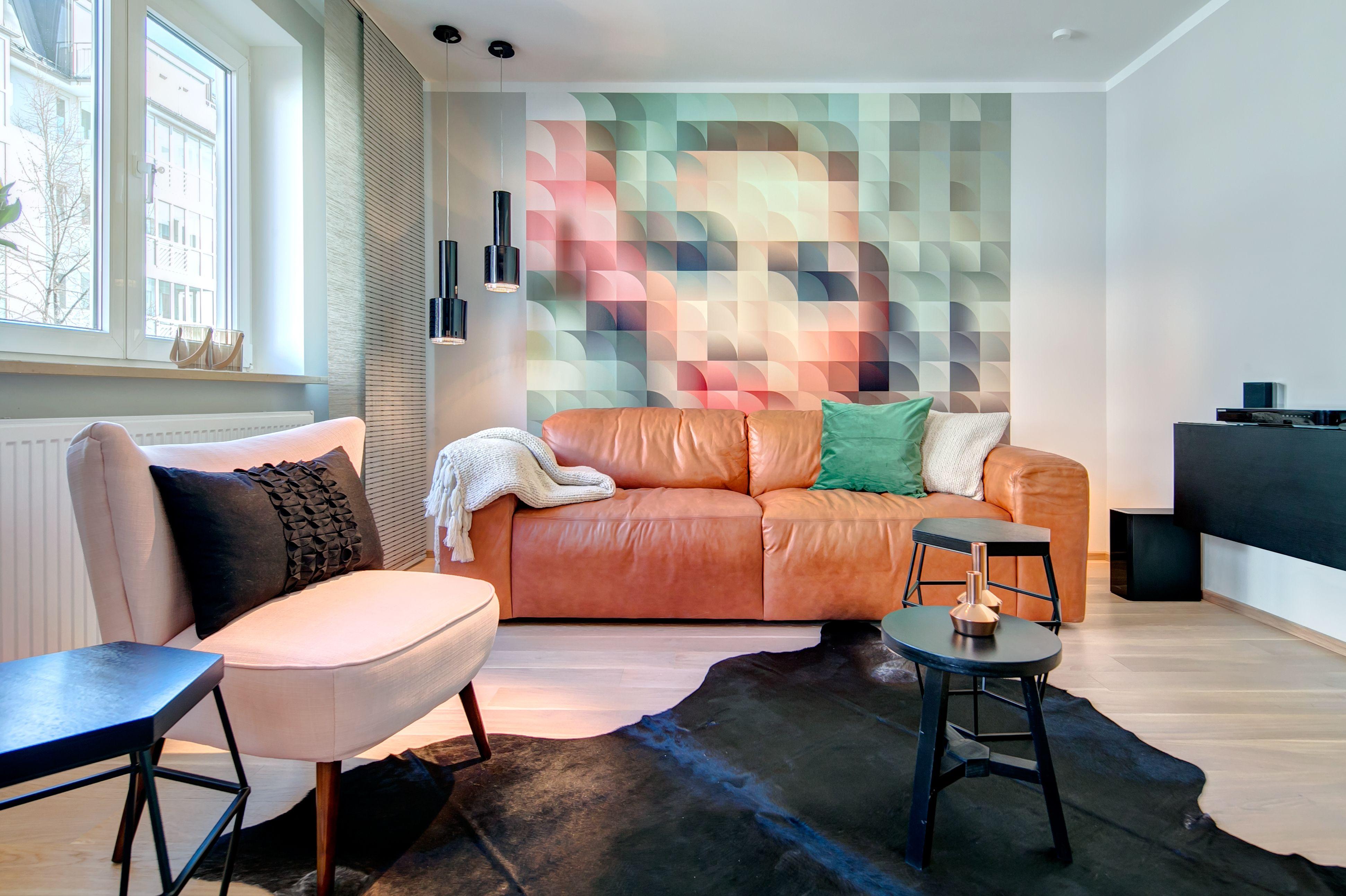 AuBergewohnlich Absoluter Hingucker   Wohnzimmer Mit Fototapete