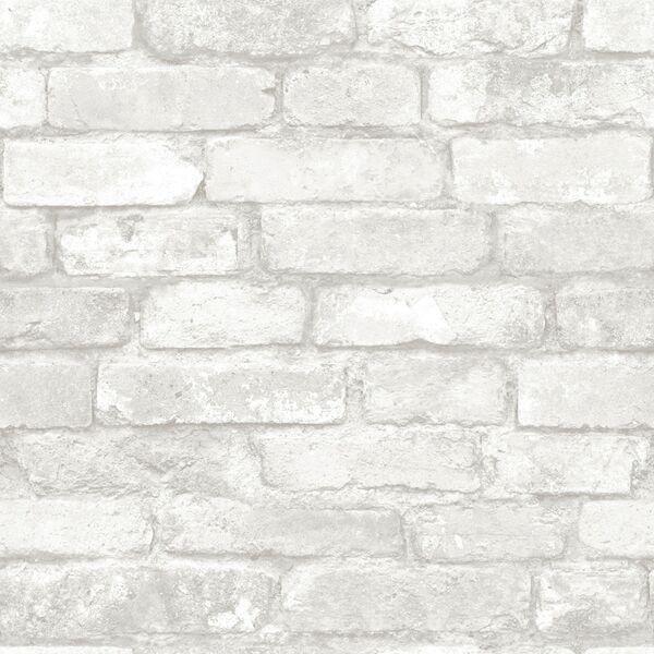 Wallpops Gray Brick Peel And Stick Wallpaper White Brick Wallpaper Brick Wallpaper White Brick
