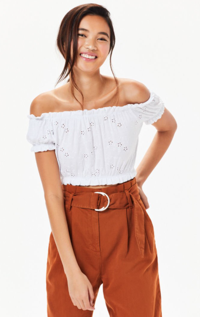 71e9c05f98306f LA Hearts Eyelet Off-The-Shoulder Top in 2018 | christmas 2018 ...