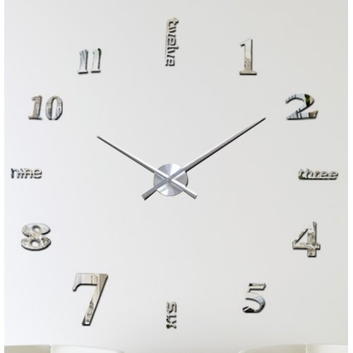 17 Stories Oversized Odilia 120cm Wall Clock Clock Diy Wall Wall