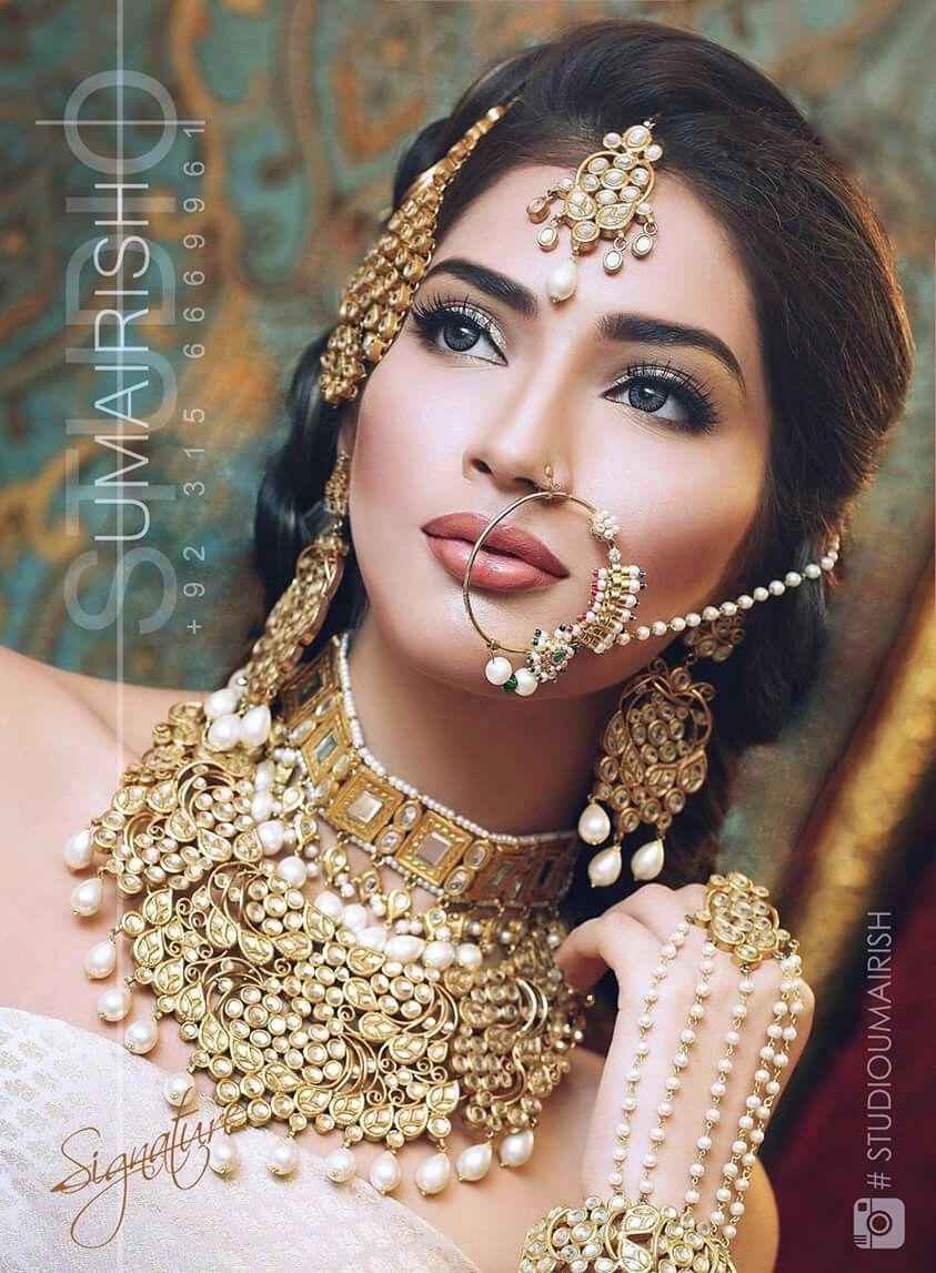 Ayyan ali bridal jeweller photo shoot design 2013 for women - Nose Rings Bridal Makeup Indian Bridal Indian Jewelry Indian Style Bridal Fashion Jewelry Design Wedding Hair Bridal Jewellery