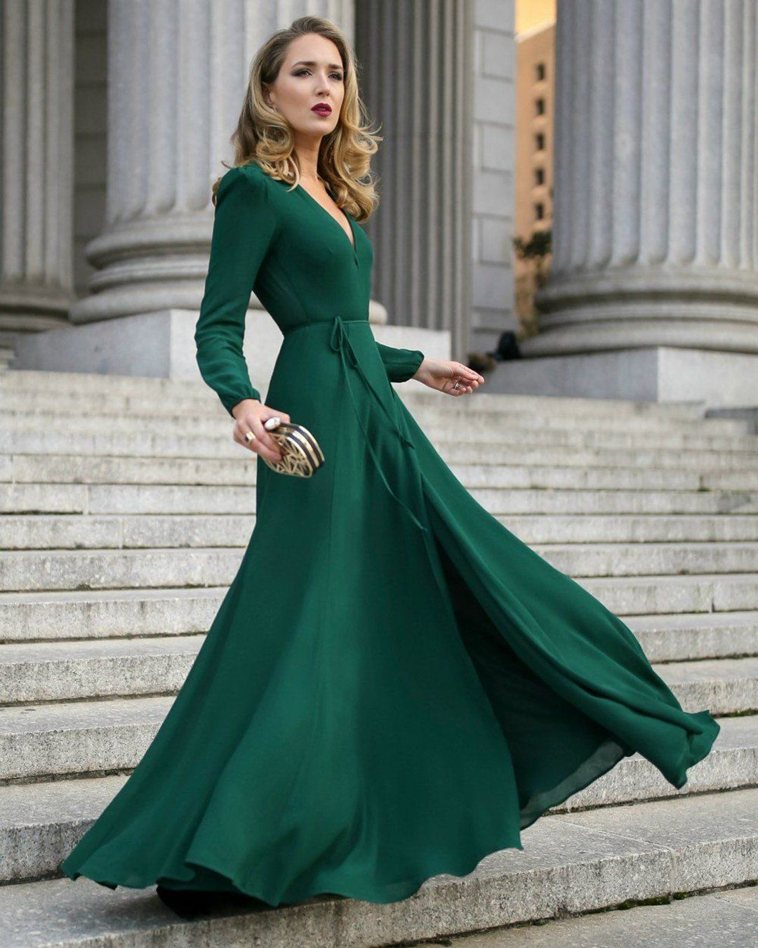 30 Wedding Guest Dresses For Every Seasons Style Trendy Dresses Maxi Dress With Sleeves Guest Dresses [ 1350 x 1080 Pixel ]