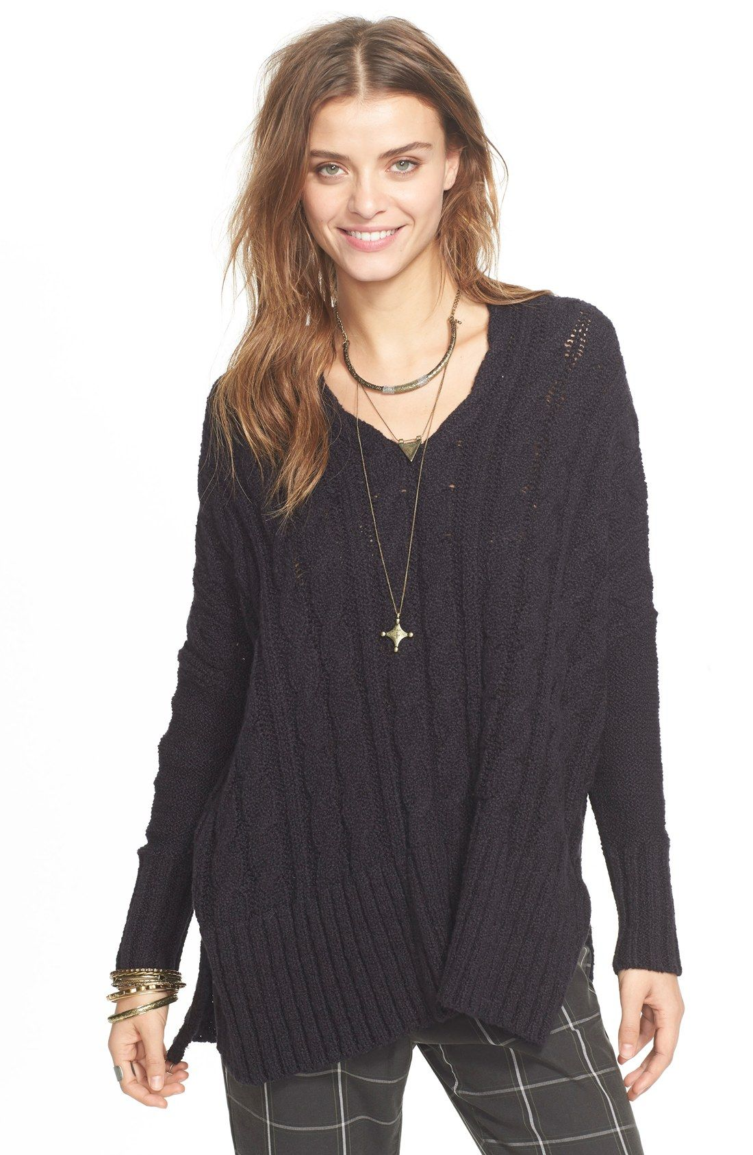 Free People Easy Cable V-Neck Sweater | Stitch Fix style board ...