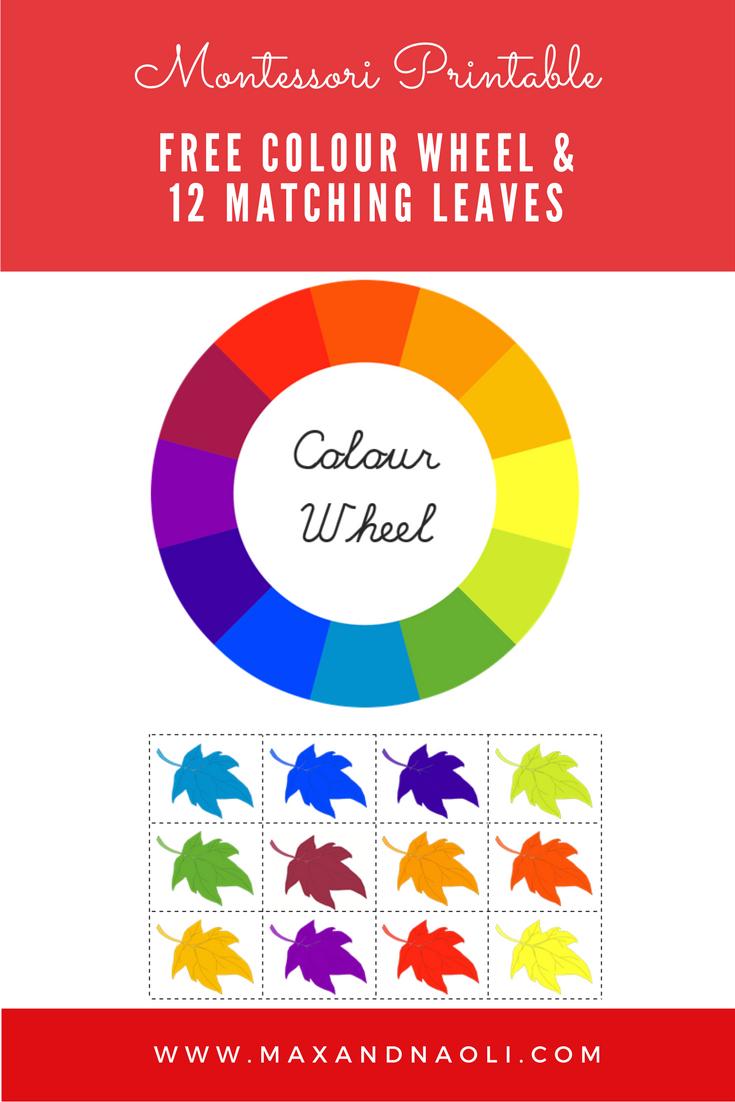 FREE Montessori Printable - Colour Wheel Matching Activity