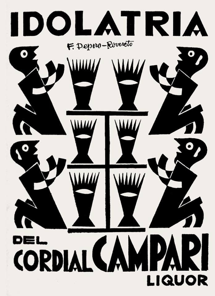 Fortunato depero artwork for campari advertising 1927 italy