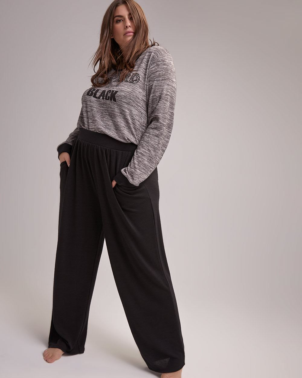 Shop online for High-Rise Straight Leg Pajama Pants - Déesse Collection.  Find Sleepwear 116c84e23