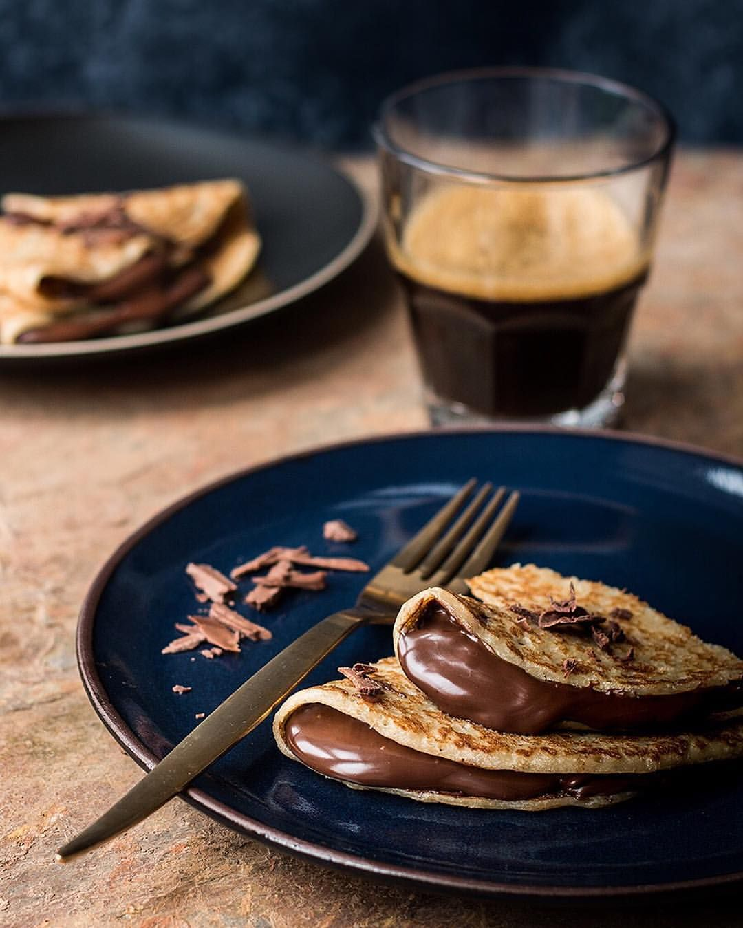 Chocolate crepes by Laura Domingo