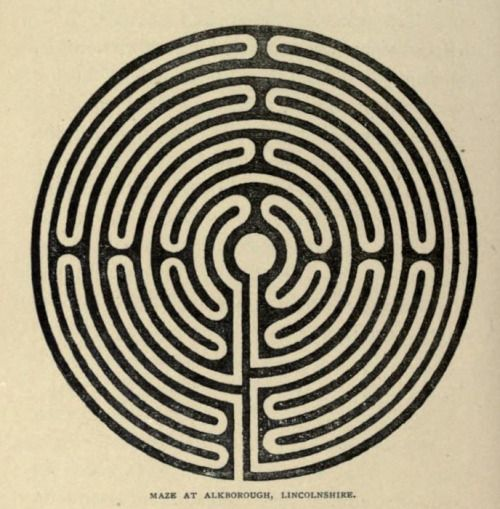 Maze at Alkborough, Lincolnshire. Ecclesiastical curiosities. 1899 ...