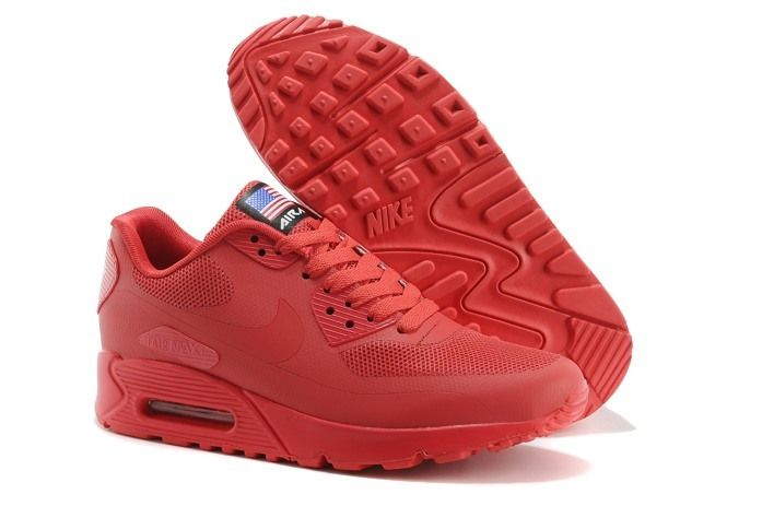 mens nike air max 90 hyperfuse red