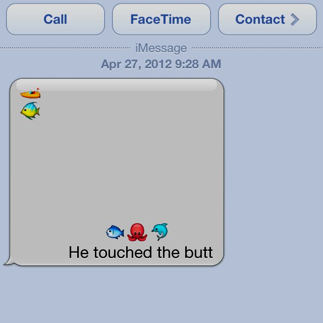 He touched the butt, iPhone style